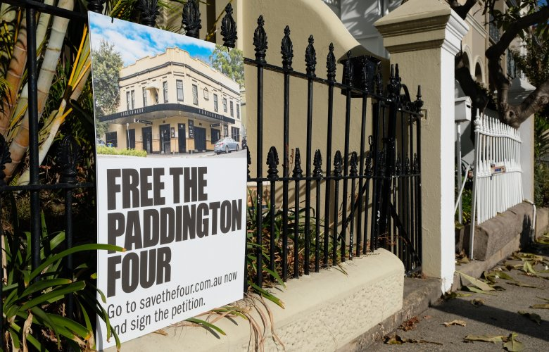 Paddington residents protest against plans to sell Four in Hand Hotel as residence